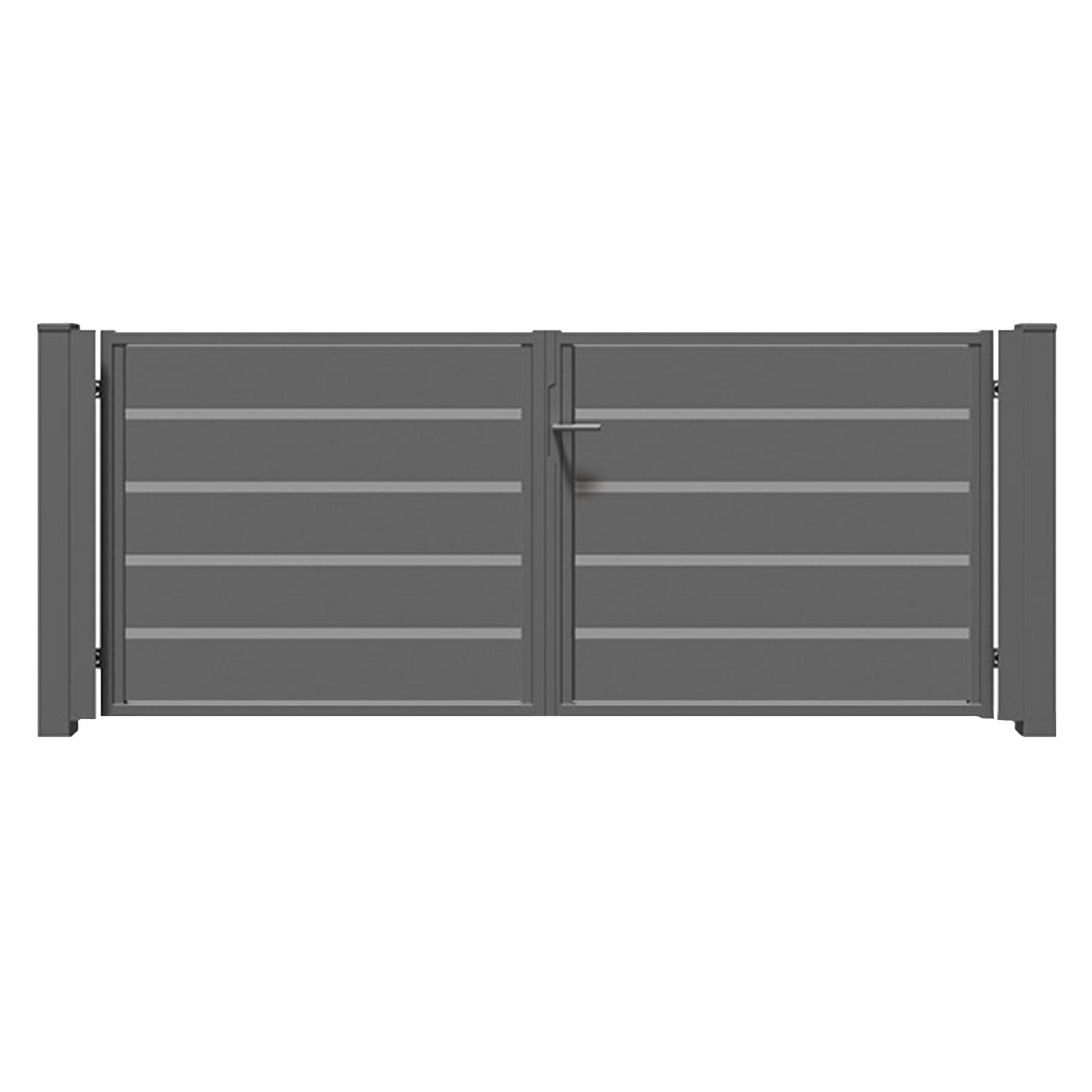Brama dwuskrzydłowa TRAWERTYN PLUS
